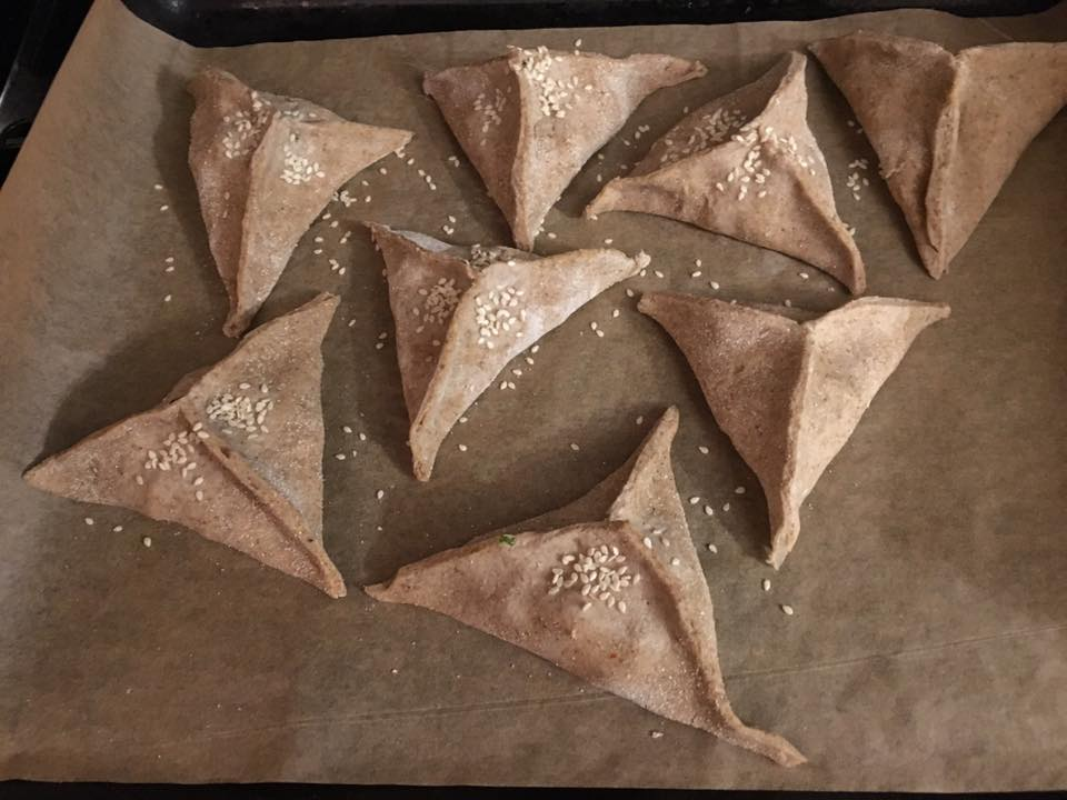 Samosy z mąki gryczanej